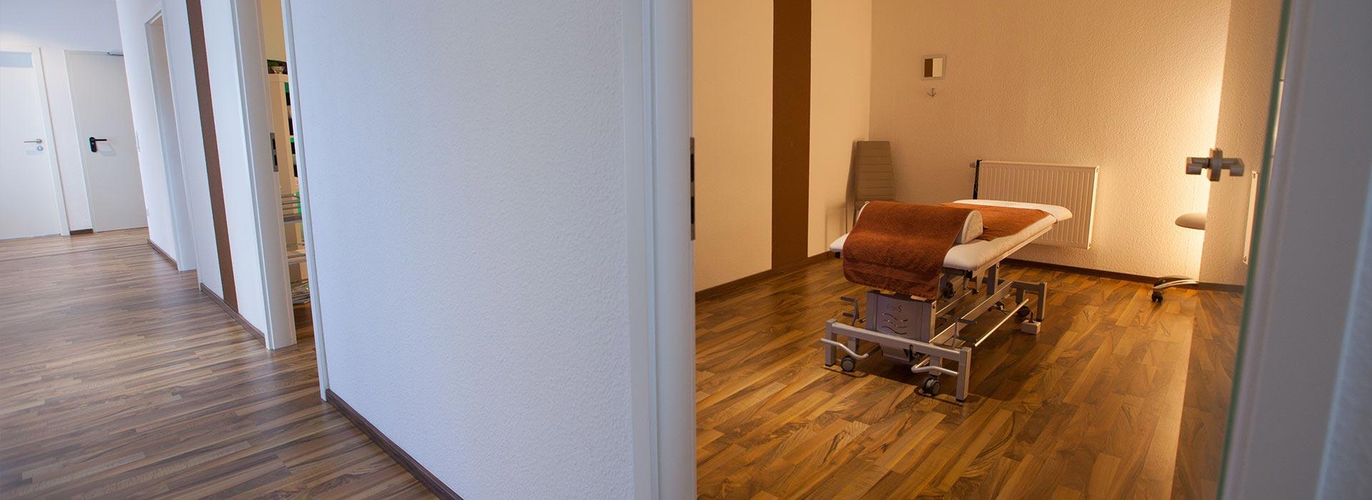Behandlungsraum Physiotherapie Arthur König in Schwabach